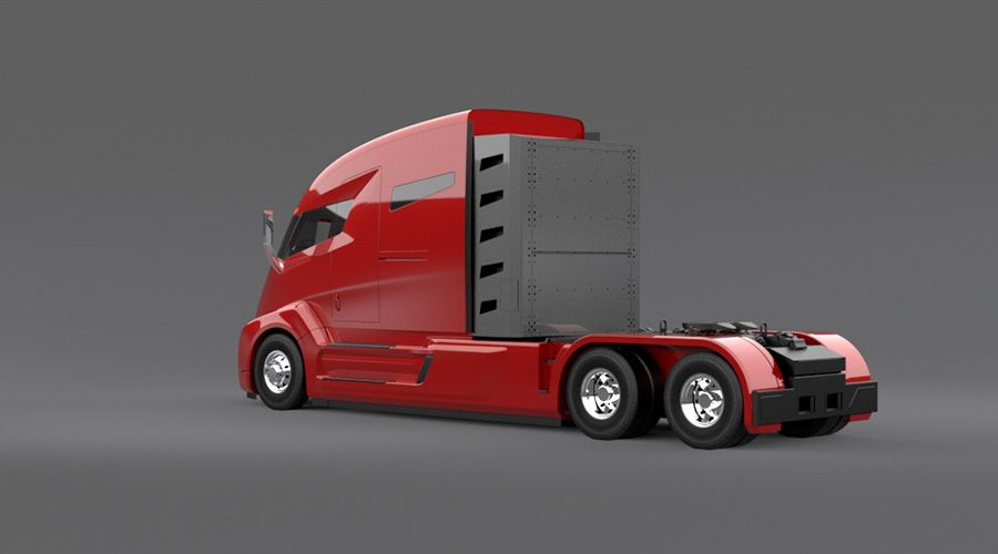 Nikola Motor Presents Electric Truck Concept With 1 200 Miles Range Carscoops In 2020 Trucks Electric Truck Cars Trucks
