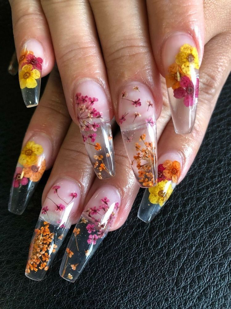 Themeanestwitch Flower Nails Nail Designs Acrylic Nail Designs