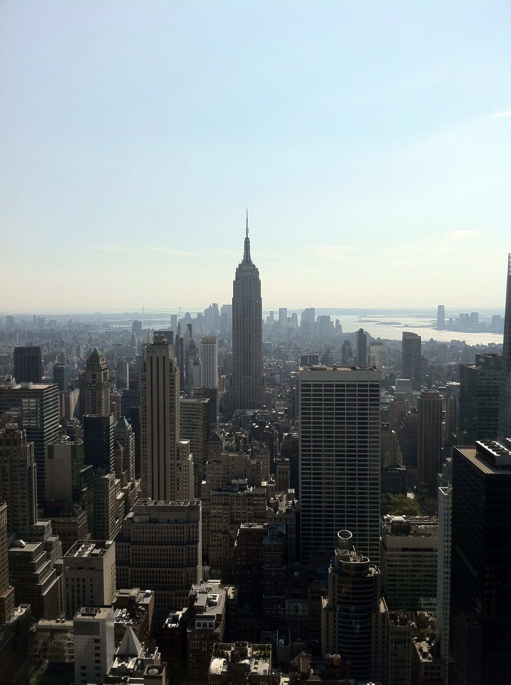 View of Empire State Building from Top of the Rock