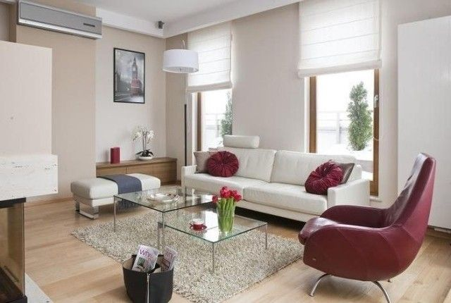 amenagement-salon-contemporain-canapé-blanc-fauteuil-bordeaux ...