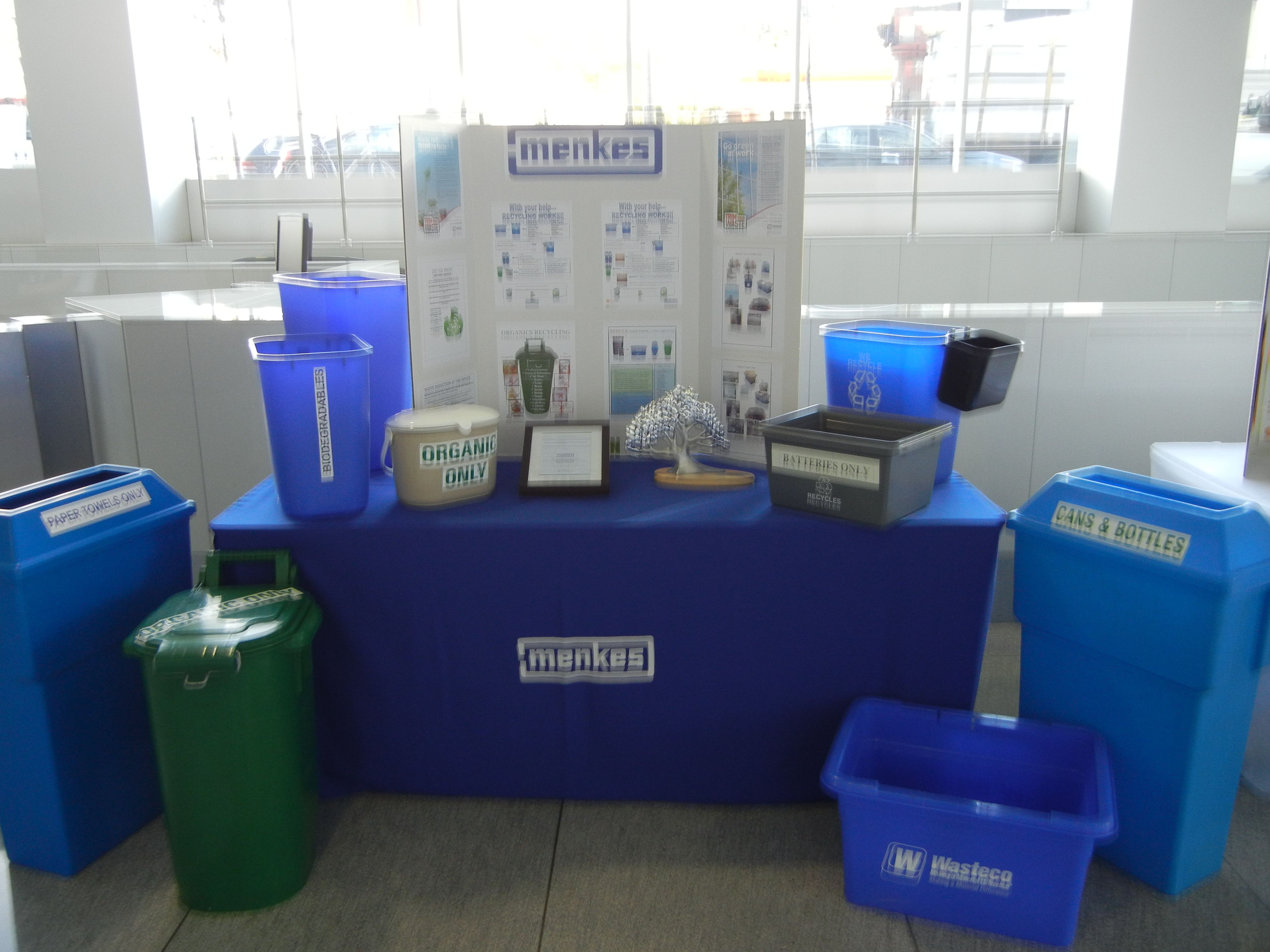 Showing the many ways to recycle at 4711 Yonge Street