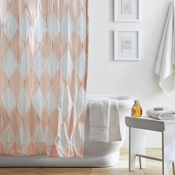 The Emily Amp Meritt Harlequin Pintuck Shower Curtain