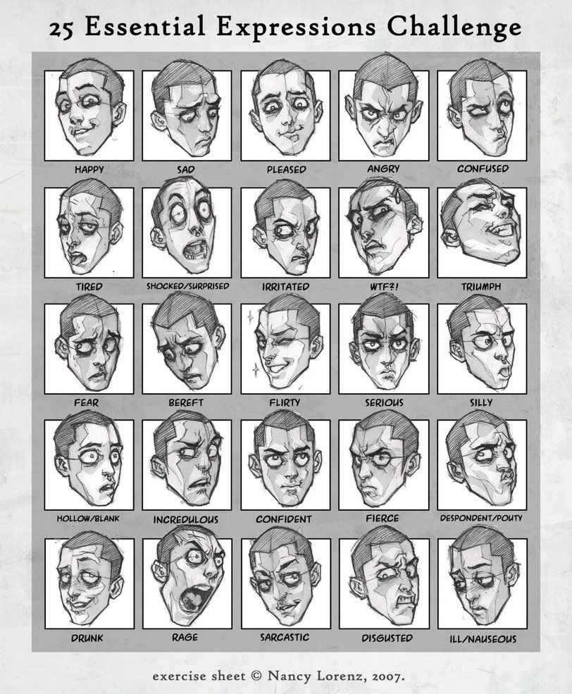 Animated facial expressions