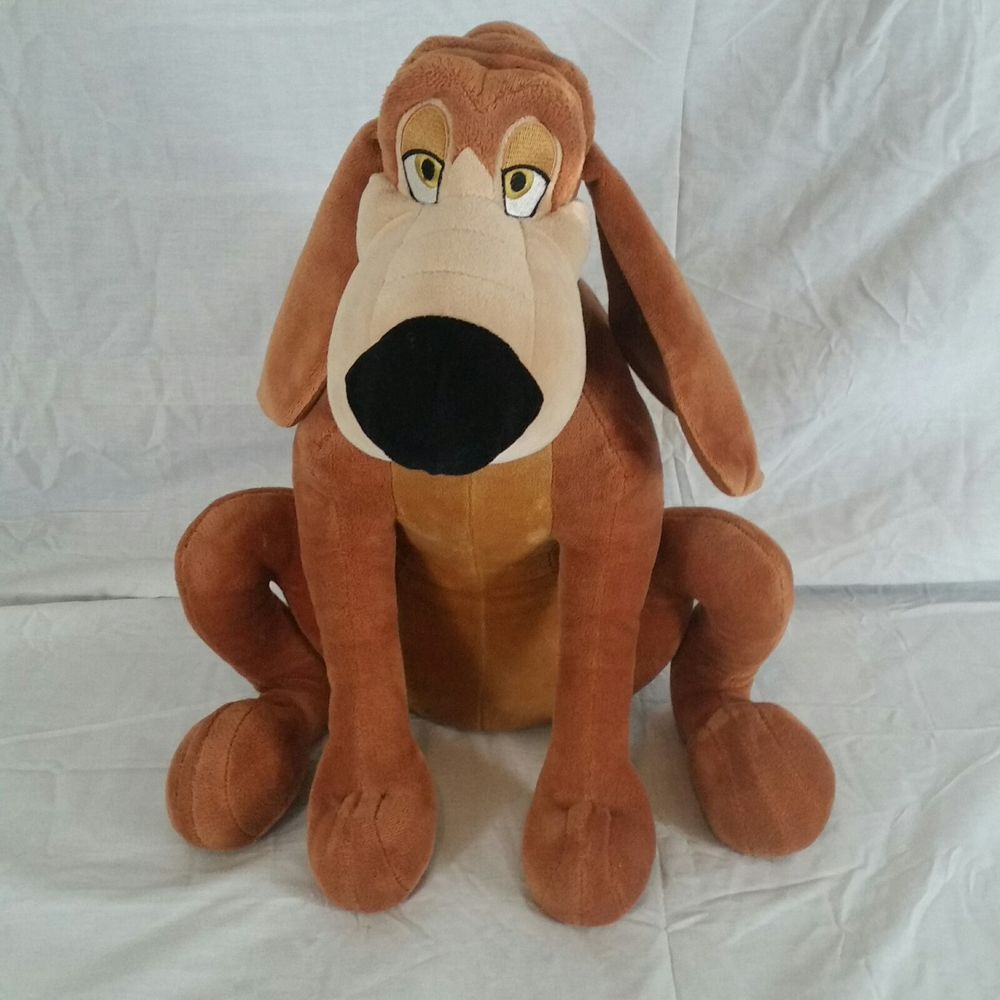 Disney Exclusive Bruno Plush Hound Dog Stuffed Animal From