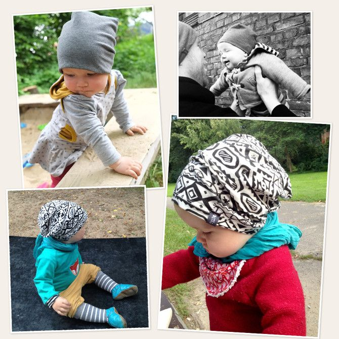 Baby Wendebeanie - Kostenloses Schnittmuster - Freebook - Lybstes ...