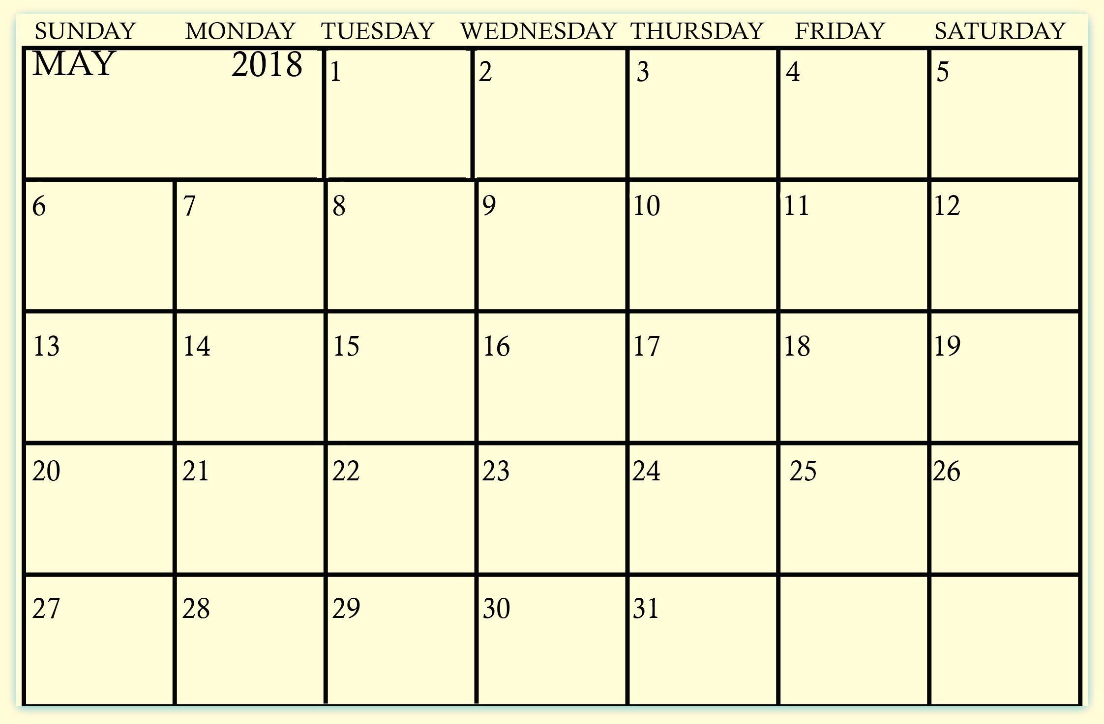 writable 2018 calendar