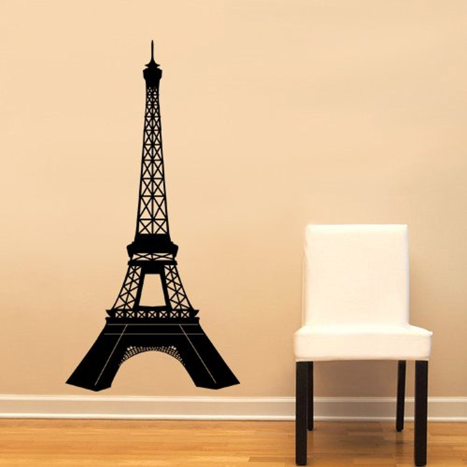 Paris Eiffel Tower Detailed Large Wall Decal Sticker Home Decoration ...
