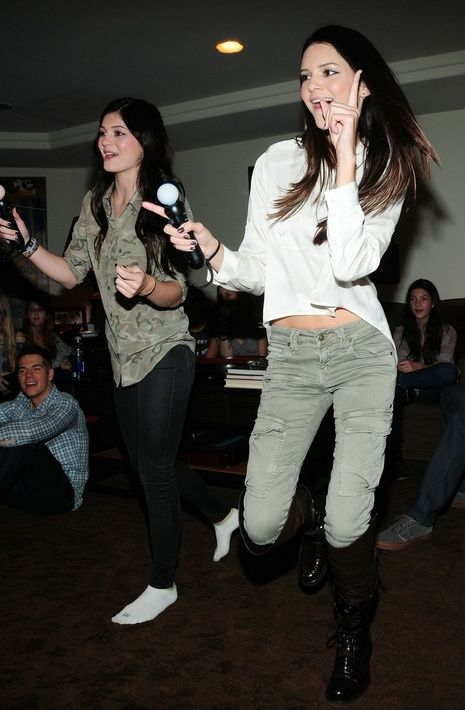 Kendall Jenner and family got their game on, playing SingStar Dance with  PlayStation Move during Kendall's birthday celebration at their home in  California.