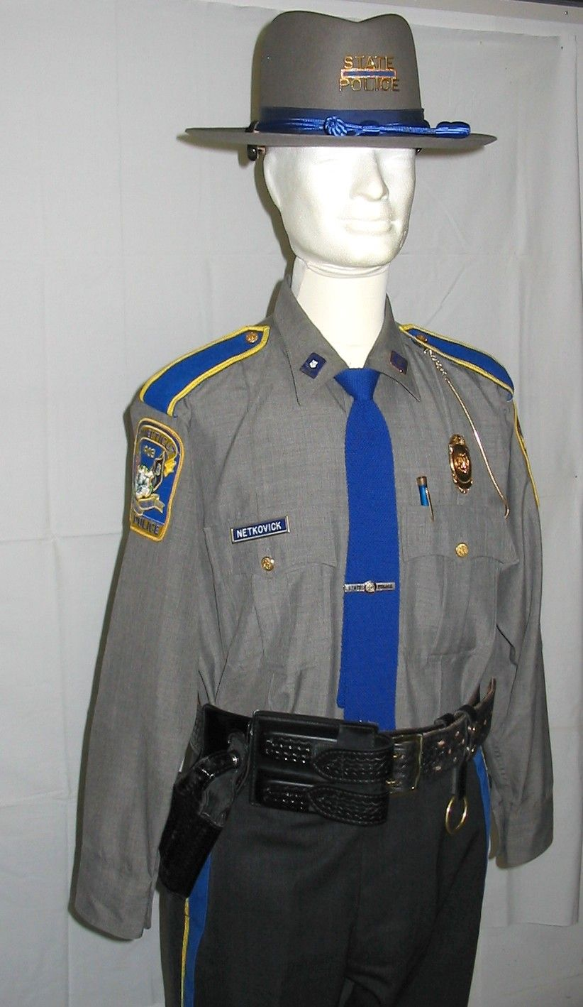 connecticut state police an assortment of military uniforms