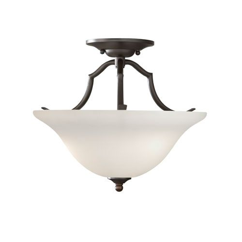 Beckett oil rubbed bronze two light indoor semi flush mount fixture