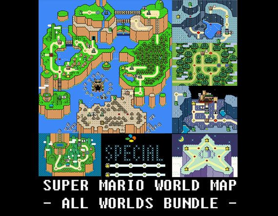 Super mario world all worlds maps cross stitch pattern mixed super mario world all worlds maps cross stitch by boxcatshop im pretty sure i will be making this purchase by the end of the weekend gumiabroncs Choice Image