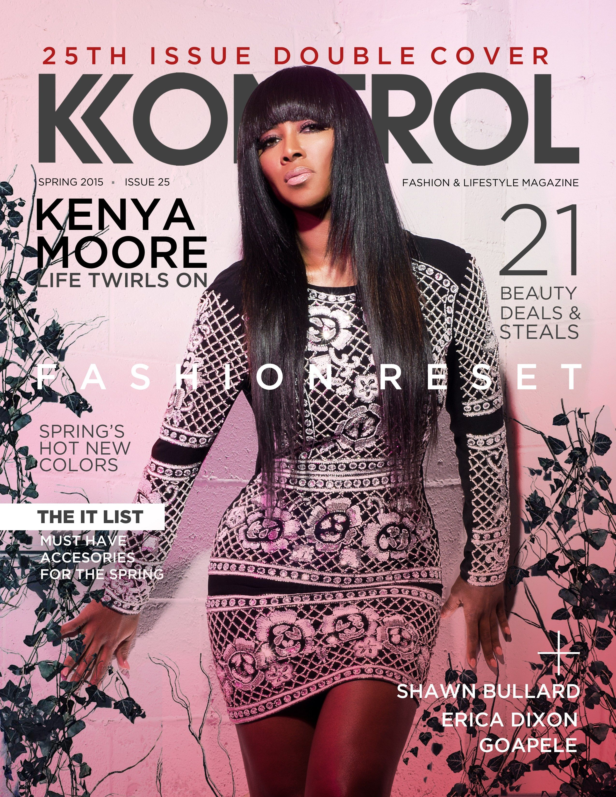 Kenya Moore Covers Fashion Reset Issue Kontrol Magazine