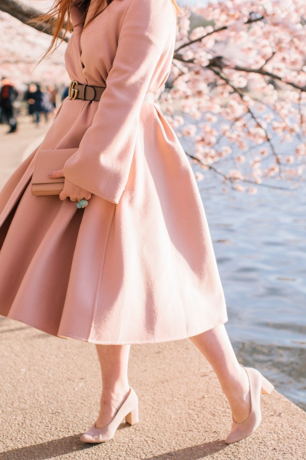 My Journey To The Dc Cherry Blossoms Pret A Provost Nyc Blogger Fashion Chic Outfits Spring Cherry Blossom Dress