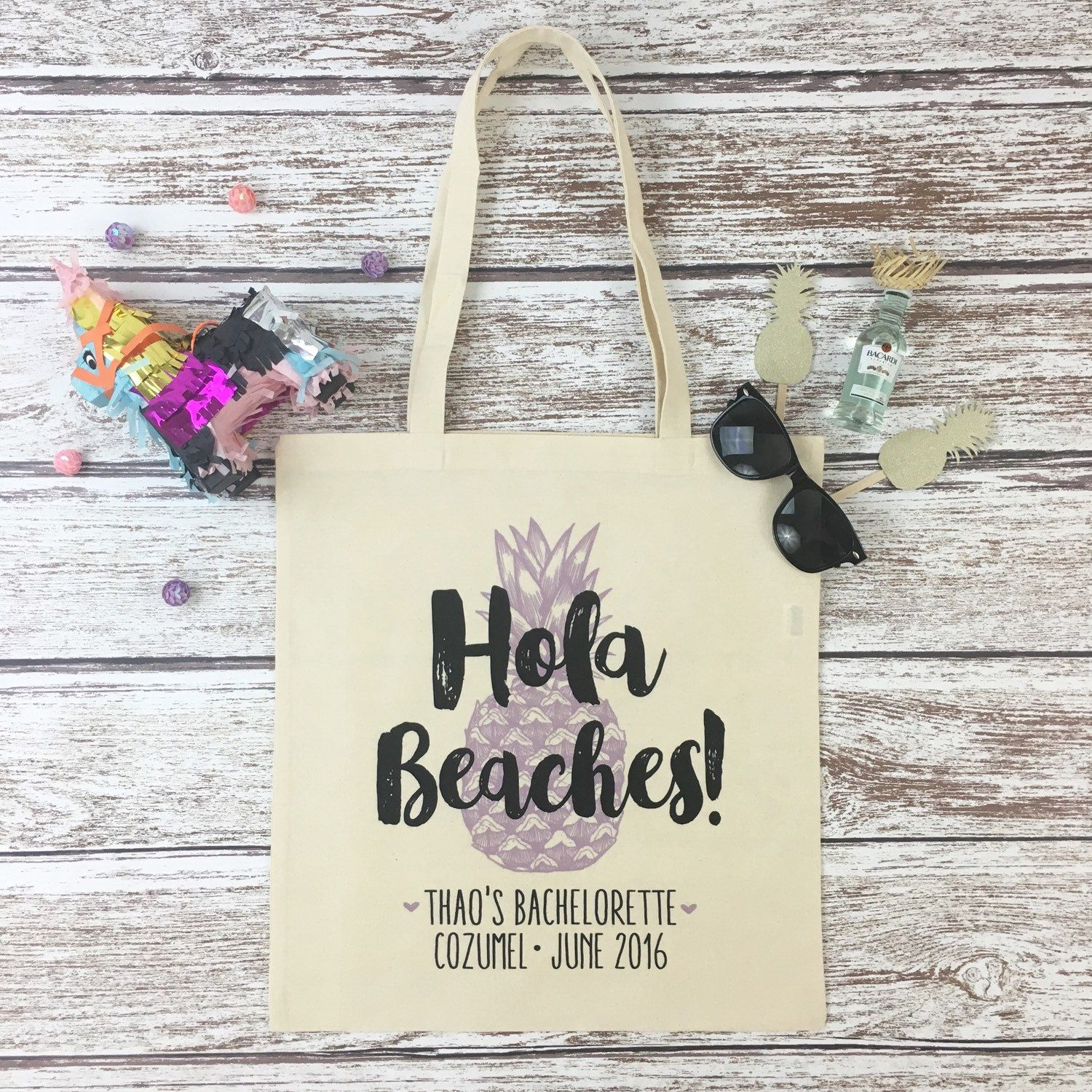 Planning A Fab Destination Bachelorette Or Wedding To Mexico Then Our Hola Beaches Tote Bags