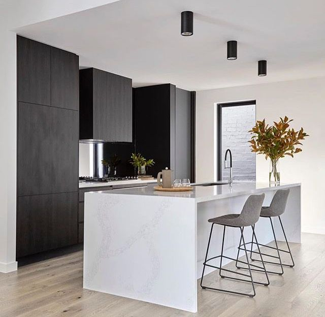 Monochrome Kitchen Magic By 🙌🏼 Photo Barstools Build Cabinetry