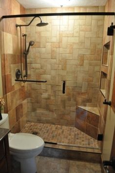Small Master Bath Remodel Replacing The Builtin Tub With A Shower - Bathroom remodel remove tub