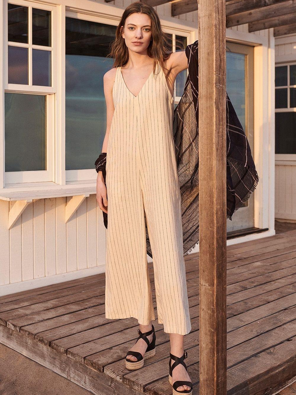 f810c74eef7e1 WOMEN Linen Rayon Sleeveless Jumpsuit | UNIQLO UK | Swoon worthy ...