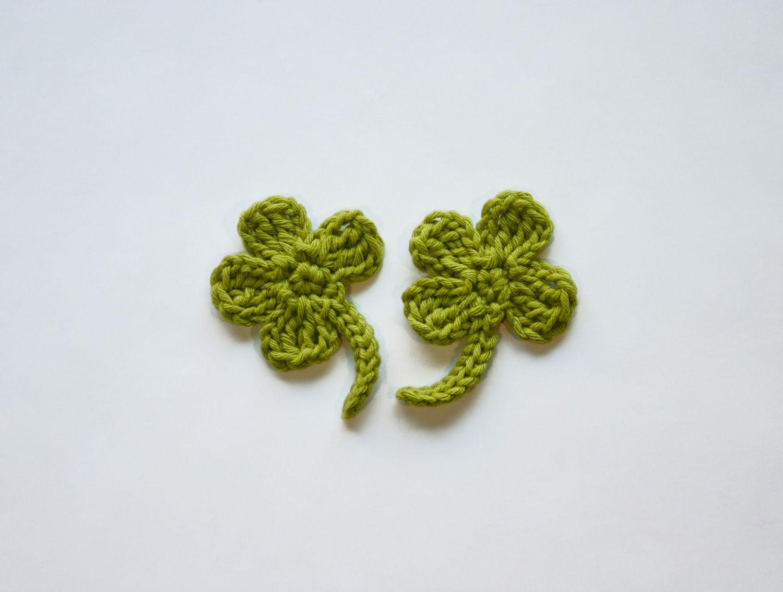 All Free Crochet Leaf Patterns | FREE Clover Applique Crochet ...