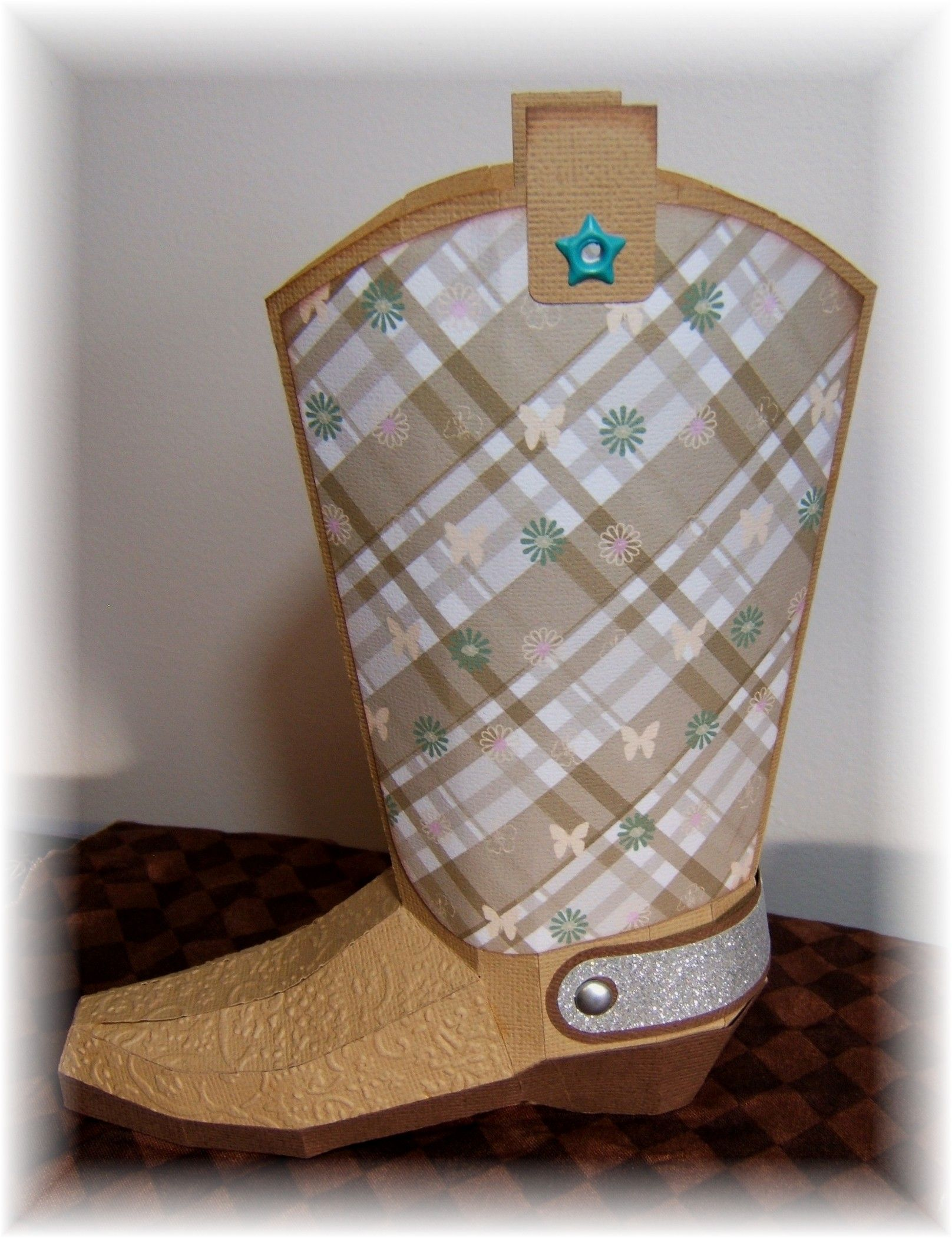 My cowgirl boot from one of the kits at Svg