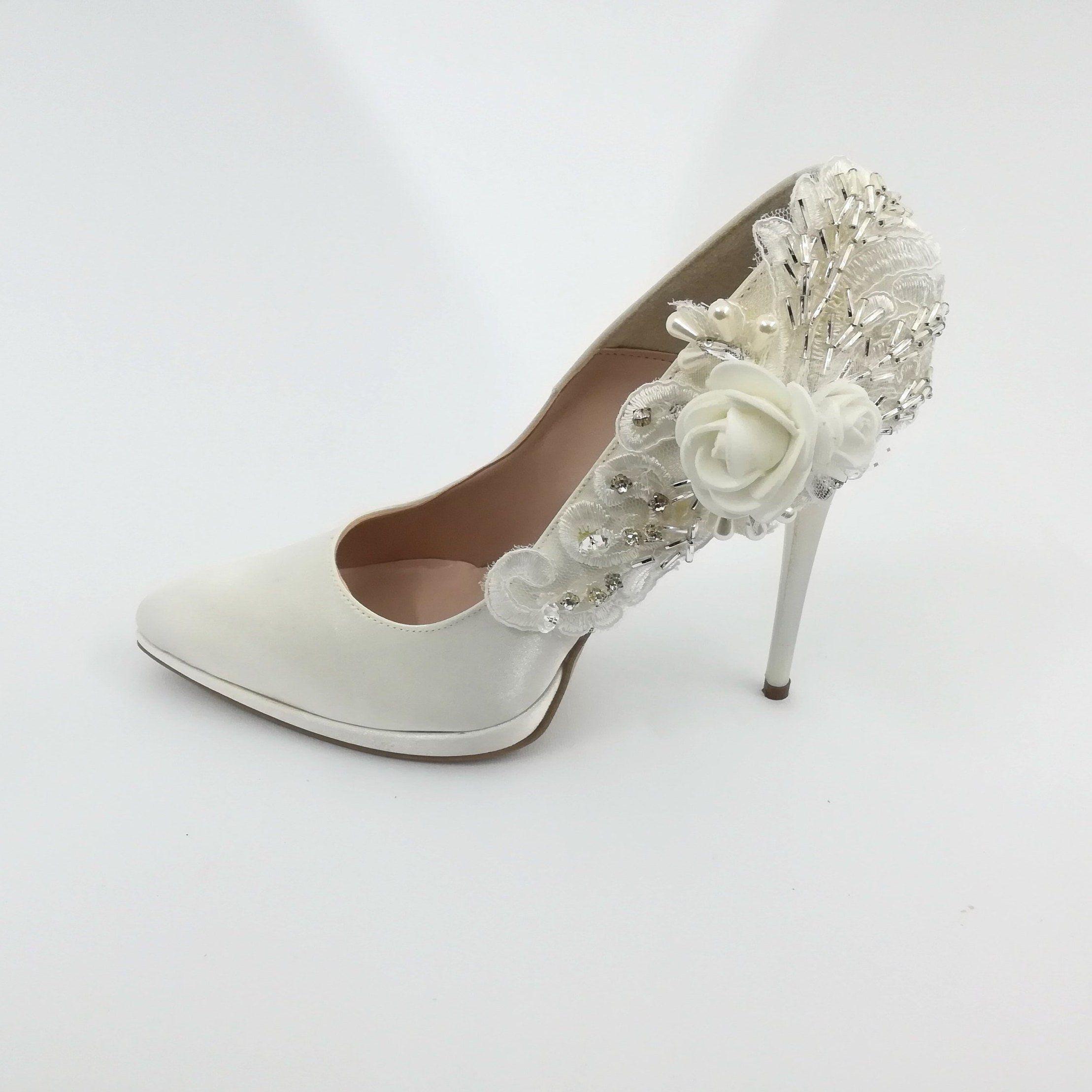 Scarpe Sposa Fiori.Custom Made In Italy Bridal Shoes Scarpe Da Sposa Scarpe E Sposa