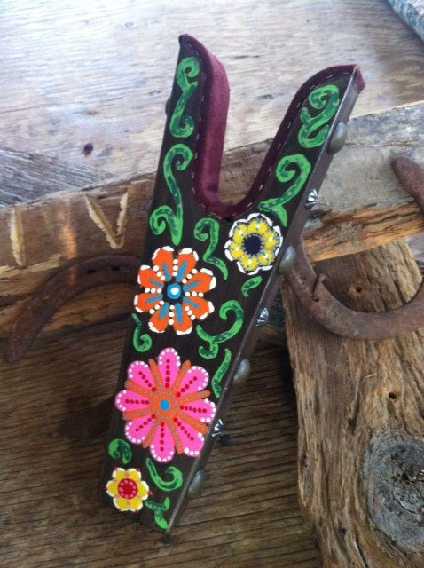 Hand Painted Boot Jack with western silver by WesternSunset, $50.00