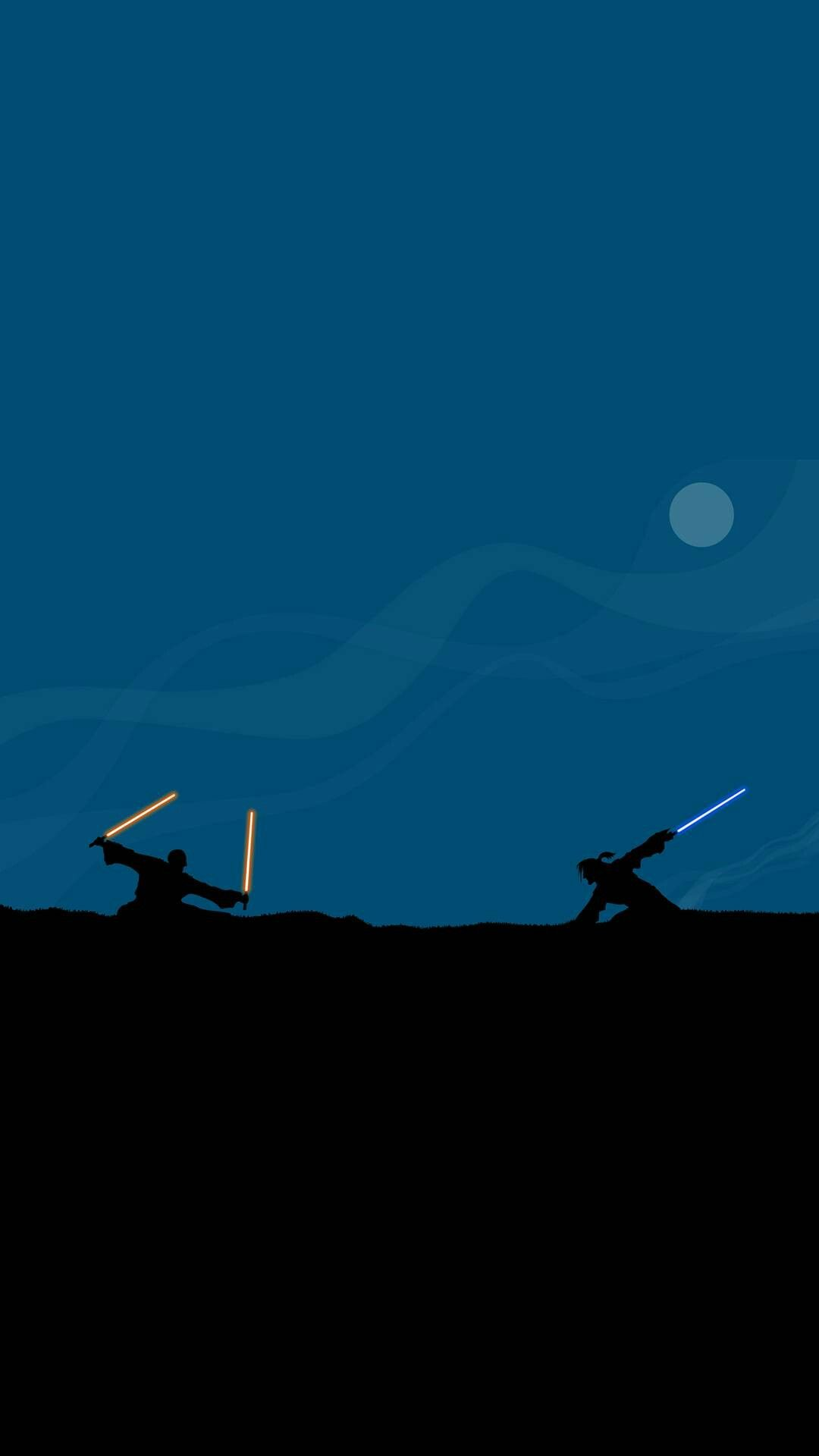 Star Wars Rey And Kylo Battle Fan Art Minimalism Wallpaper Star Wars Wallpaper Rey Star Wars Cool Wallpapers For Phones