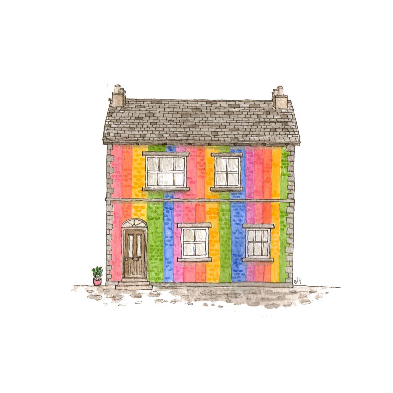 Explore coloured house rainbow coloured and more