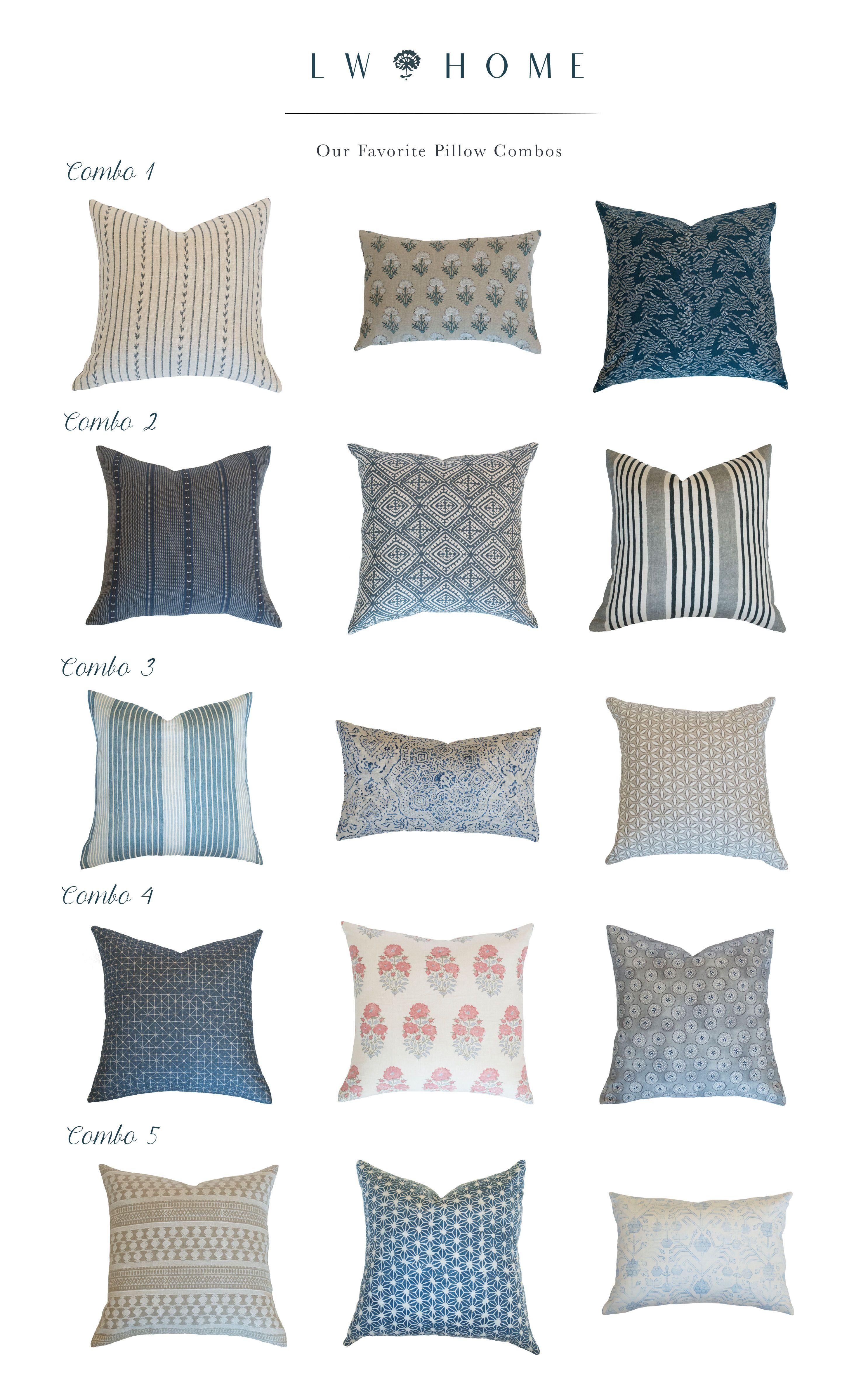 Guide To Pillow Combinations Made Easy Pillow Combos Pillows Coordinates Pillow