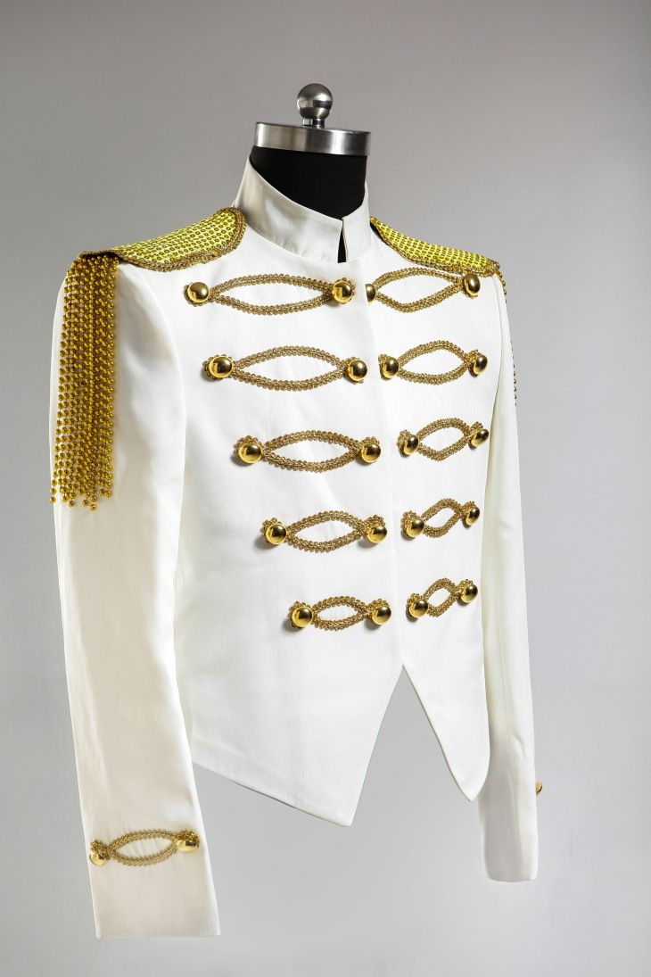New Men/'s Military Gold Embroidery Coats Stage Singer NIghtclub jackets Slim Fit