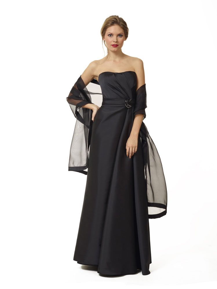 Liancarlo Style 3135. Soft faille strapless gown with side draped detail and jewel brooch #redcarpet #evening #motherofthebride