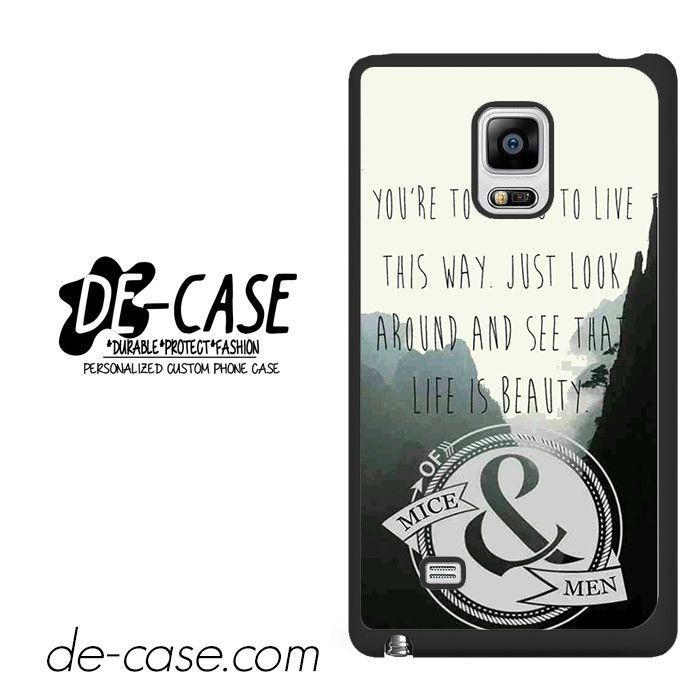 Of Mice & Men Lyrics DEAL-8100 Samsung Phonecase Cover For Samsung Galaxy Note Edge