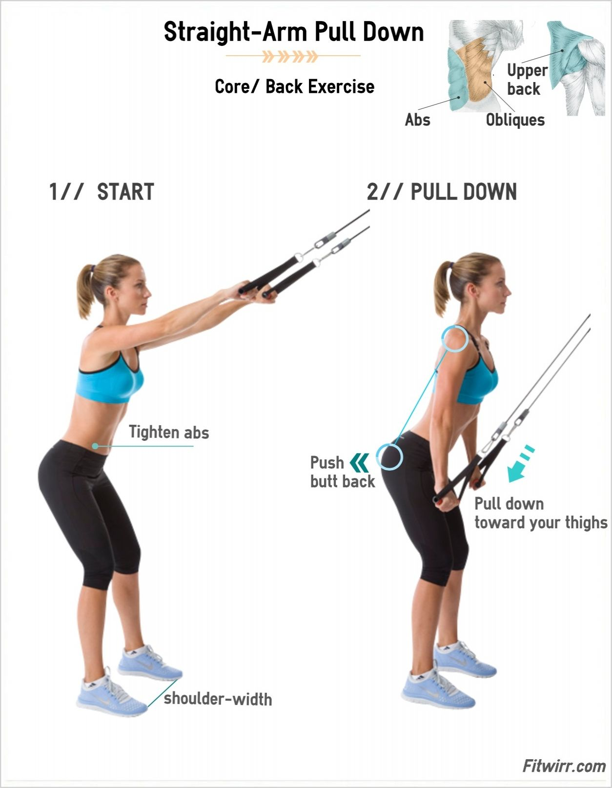 Straight-Arm Lat Pull Downs: Back Exercises for Women Video | Back ...