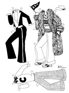 Black and White Art Deco style paperdolls (With images