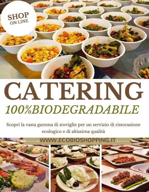 #piatti per #catering e #coffeebreak #ecologici
