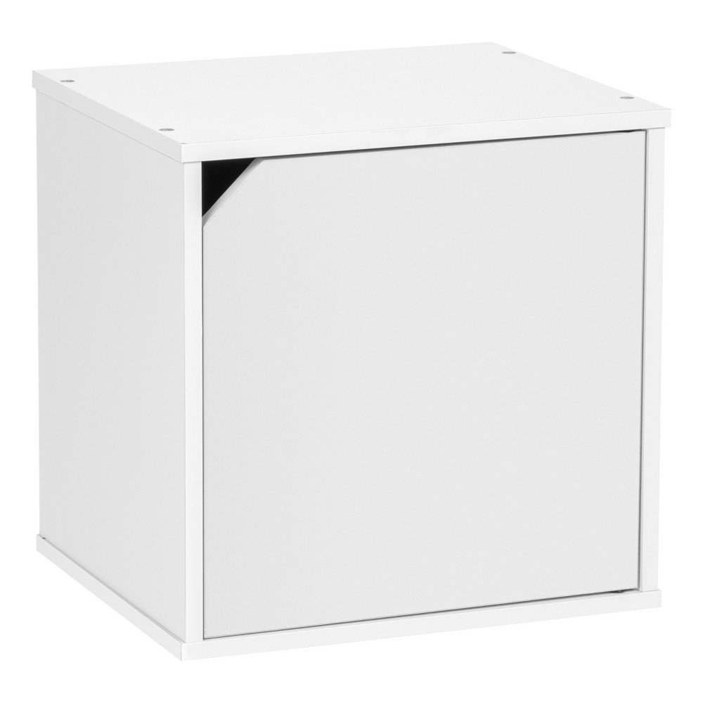 Iris Baku Wood Storage Cube Box With Door White In 2019 Products
