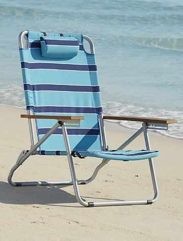 Extra Wide Folding Sand Chair Stationary Weight Capacity Seat Is Closer To The Ground Than In Average Beach Reclines Fully A Laid Back Position