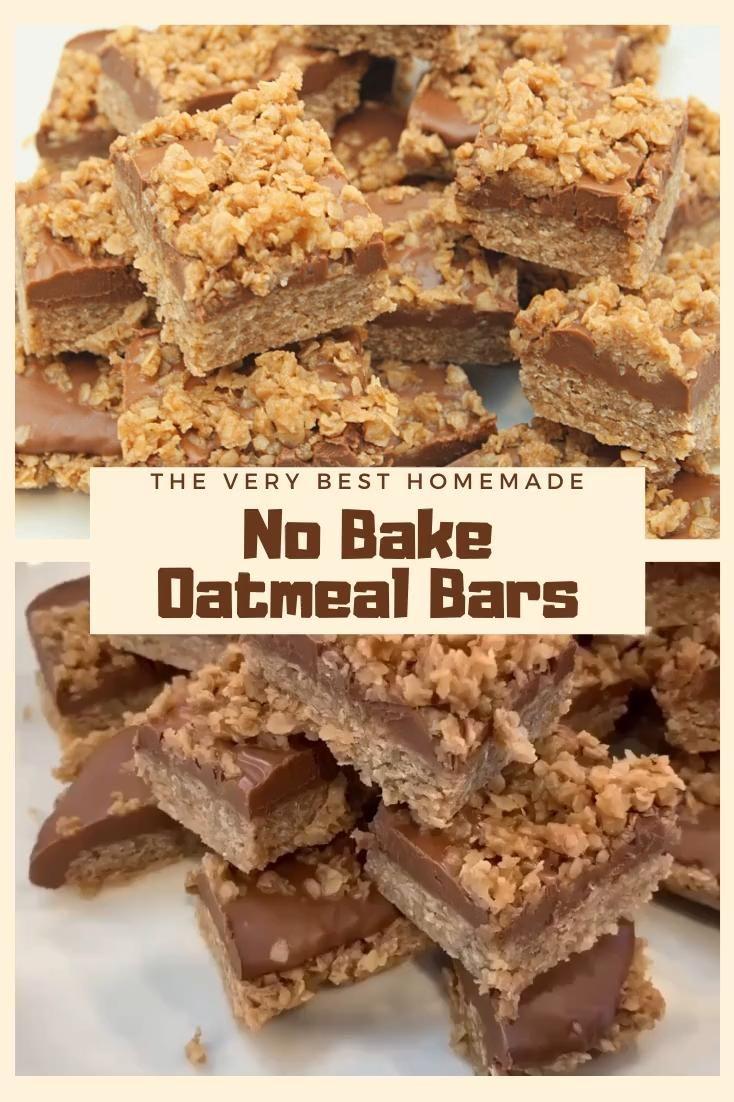 No Bake Oatmeal Bars Recipe