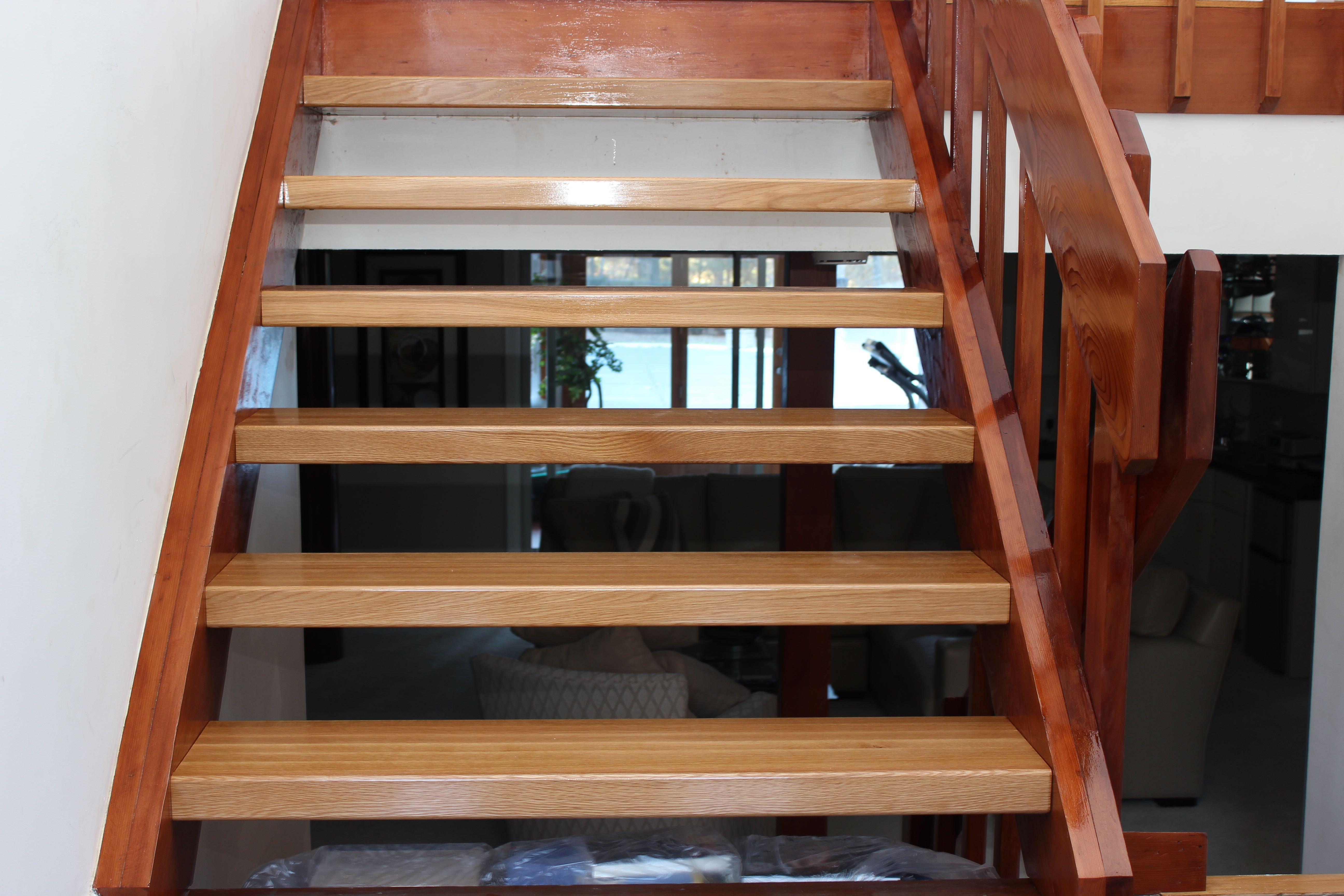 White Oak Oak Stairs Hardwood Stair Treads Stairs