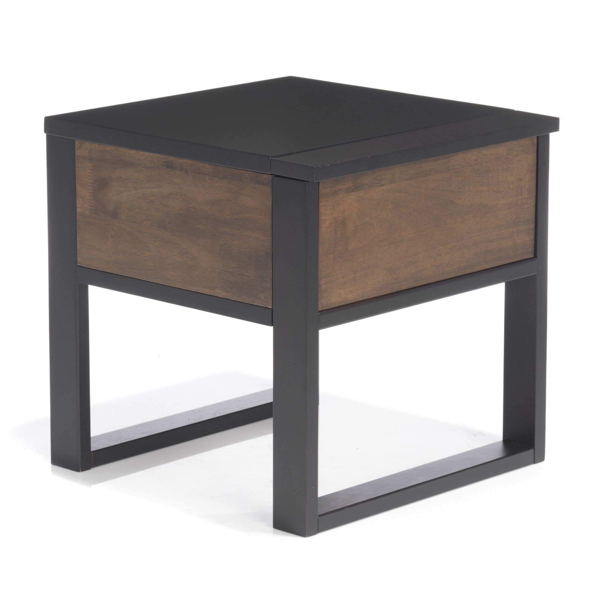 top table de chevet tiroir noyer dor et weng spirit tables. Black Bedroom Furniture Sets. Home Design Ideas