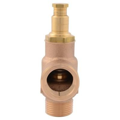 Cash Acme 3 4 In Mip X 3 4 In Fip Brass Fwc Adjustable Pressure Relief Valve 09564 0125lf The Home Depot In 2020 Relief Valve Acme Thermal Expansion