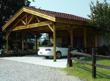 Rustic Carport Image 1 Of 4 Rustic Cedar Carport