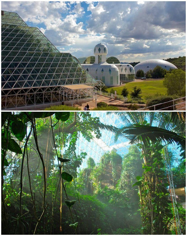 Biosphere 2 A Glass Encased Artificial Earth In The Arizona Desert Arizona Vacation Arizona Travel Visit Arizona