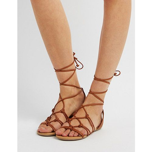96faf8f050262 Knotted Lace-Up Sandals