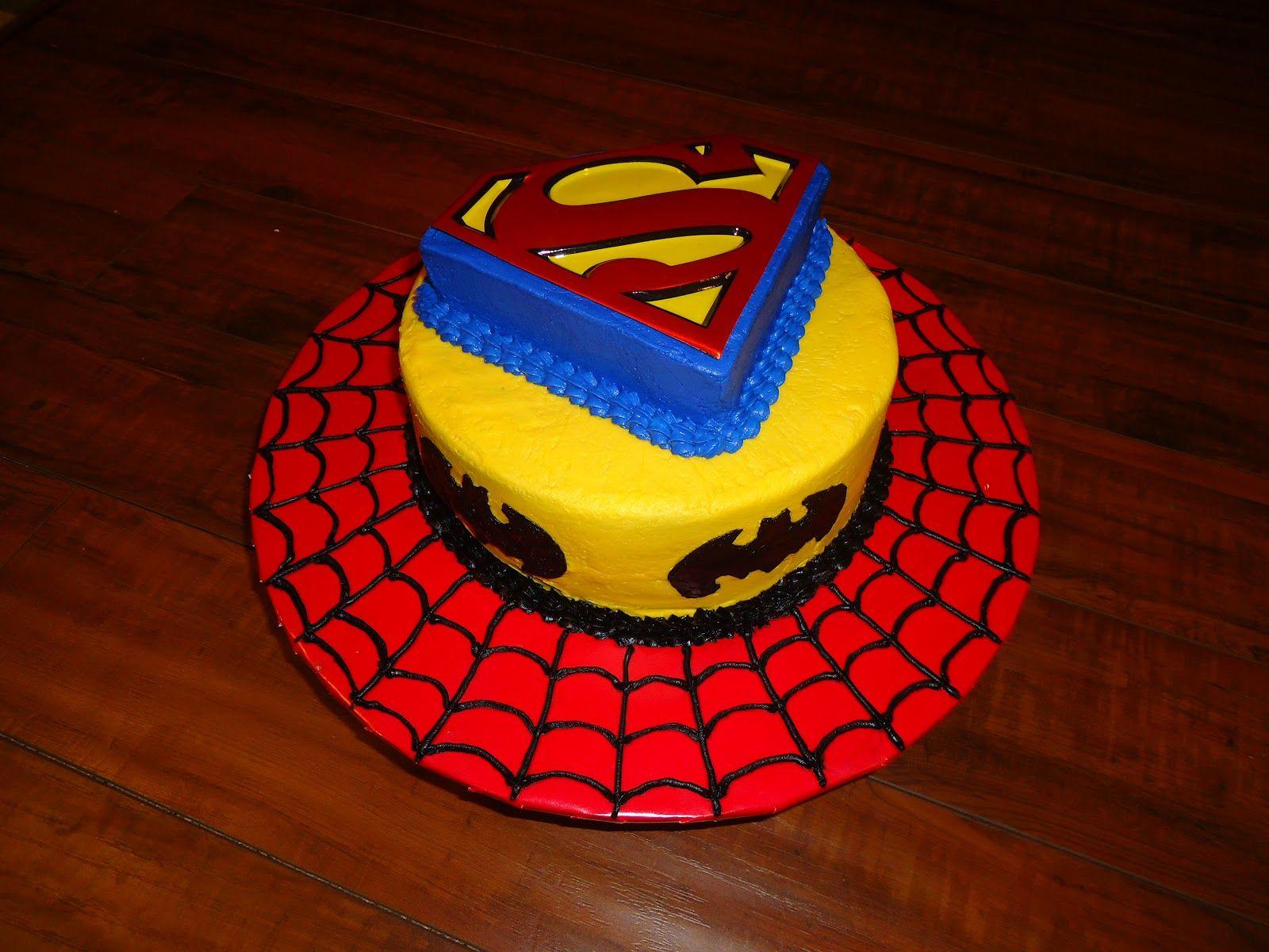 Buttercream superhero birthday cake Butter Cream Super Hero