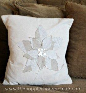 flower fabric scrap pillow
