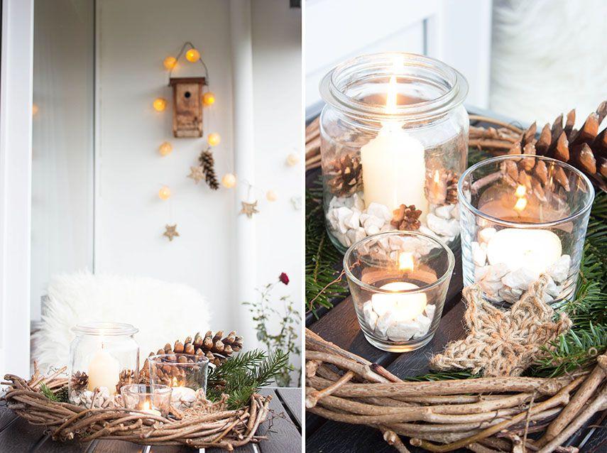 Schon Elegant 4 Rustikale Weihnachtsdeko Für Den Balkon Der Weckgläser