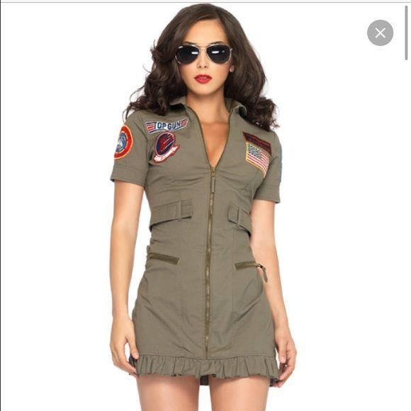 Leg Avenue Top Gun Halloween Costume  sc 1 st  Pinterest & Leg Avenue Top Gun Halloween Costume | Aviator glasses Halloween ...