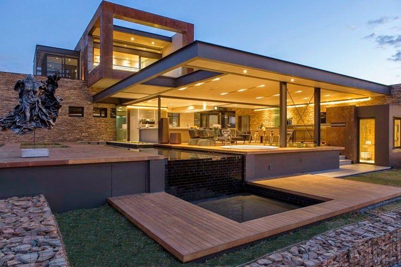 Casa com arquitetura e decora o moderna maravilhosa for Casa moderna o antica
