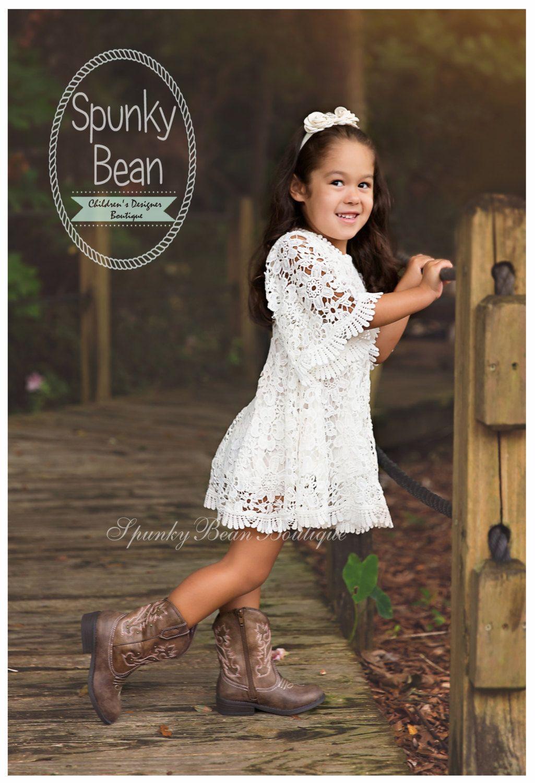 9662c62265b3 Fall Flower Girl Dress