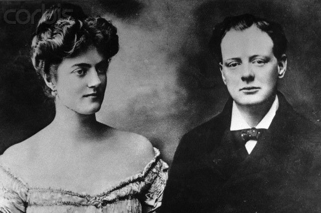 Winston Churchill With Fiancee Clementine Hozier U1455813 Rights Managed Stock Photo Corbis 1908